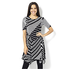 Yong Kim Jersey Printed Dress with Patch Pocket