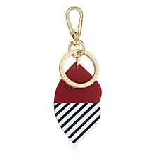 Lulu Guinness 50:50 Stripe Lip Keyring