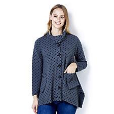 Yong Kim Bubble Knit Button Jacket
