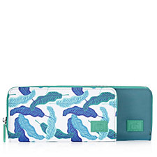 Travel Style Set of 2 RFID Purses Print & Plain
