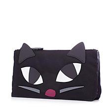 Lulu Guinness Kooky Cat Double Make Up Bag