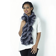 Dennis Basso Faux Fur Ruched Chinchilla Scarf