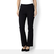 Isaac Mizrahi Live Elasticated Waist Regular Length Bootcut 24/7 Trouser