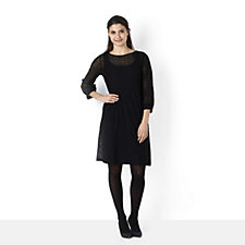 Kim & Co Animal Lace Dress with Blouson Sleeves