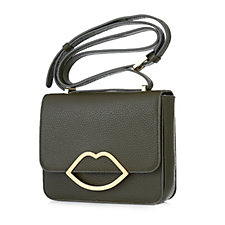 Lulu Guinness Medium Marcie Grainy Leather Crossbody Bag