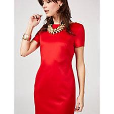 Alton Gray Jersey Zip Back Midi Dress