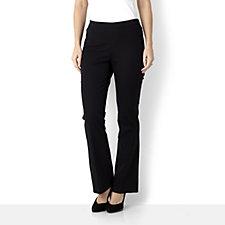 Isaac Mizrahi Live Elasticated Waist Petite Length Bootcut 24/7 Trouser