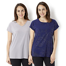 Antthony Designs Plain & Stud Detail 2 Pack of Tops