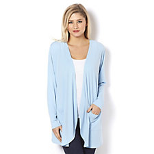 Jersey Drape Front Cardigan with Pockets by Michele Hope