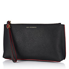 Lulu Guinness T-Seam Saffiano Leather Cosmetic Bag