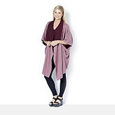 H by Halston Double Knit Poncho
