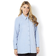 Denim & Co. Long Sleeve Fleece Tunic Shirt
