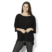 Join Clothes Textured Tunic with Grown On Sleeves