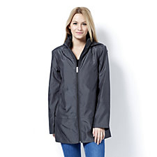 Centigrade Zip Front Hooded Swing Jacket