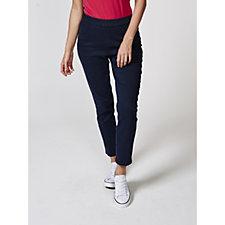 C. Wonder Slim Leg Ankle Length Knit Denim Pull On Trousers