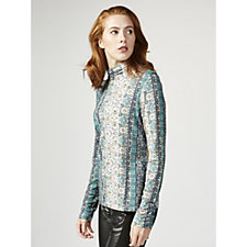 Fashion by Together Printed Roll Neck Top