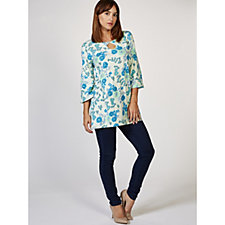 Artscapes Floral Key Hole Detail Tunic