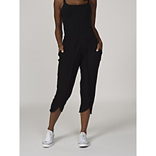 Christopher Fink Cropped Tulip Hem Trousers with Elasticated Waist