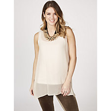 WynneLayers Scoop Neck Sleeveless Georgette Tunic