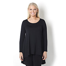 Yong Kim Modal Pocket Detail Long Sleeve Swing Tunic