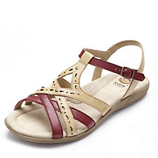 Earth Spirit Columbia Leather Laser Cut Detail Strappy Sandal