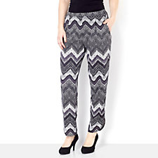Chelsea Muse by Christopher Fink Printed Split Hem Trouser