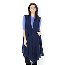 Join Clothes Linen Waterfall Duster Cardigan with Side Pocket Detail