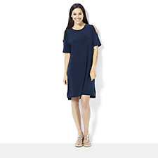 Yong Kim Jersey Cold Shoulder Tunic Dress