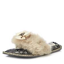 Pretty You London Saffron Toe Post Slippers with Jewel Embellishment