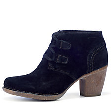 Clarks Carleta Lyon Suede Ankle Boots with Lace Up Front