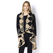 Diamond Knitted Longline Waistcoat by Nina Leonard