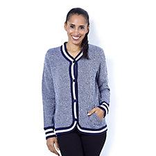 C. Wonder Long Sleeve Jacket with Sweater Rib