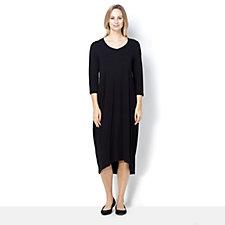 Join Clothes Bubble Hem Insert Pockets 3/4 Sleeve Dress