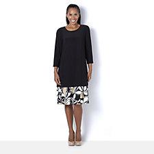 Coco Bianco Long Sleeve ColourBlock Jersey Swing Dress