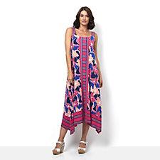 C. Wonder Engineered Printed Asymmetric Hem Maxi Dress Regular
