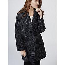 Helene Berman Metallic Thread Weave Drape Coat