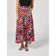 Griffin Tiered Maxi Skirt by Onjenu London
