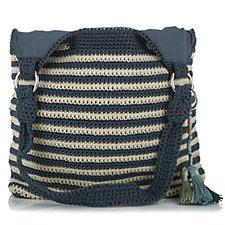 The Sak Ellis Crochet Tote Bag with Keyring Charm