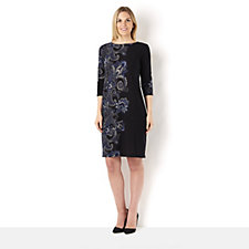 Tiana B 3/4 Sleeve Paisley Print Dress