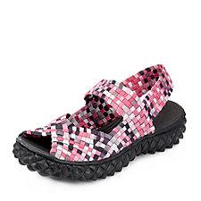 158033 - Adesso Wanda Stretch Weave Peep Toe Sandal