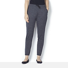 H by Halston Drawstring Tapered Leg Relaxed Trousers
