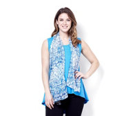 Chelsea Muse by Christopher Fink High-Low Hem Vest with Scarf Set