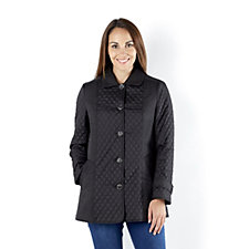 Centigrade Diamond Quilt Button Front Jacket