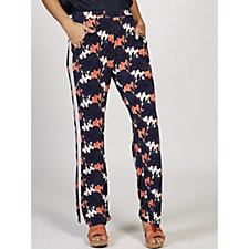Christopher Fink Floral Printed Jersey Trousers