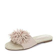 Pretty You London Tassel Espadrille Slide Sandal