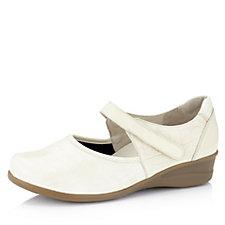 146834 - Vitaform Leather & Stretch Mary Jane Adjustable Strap