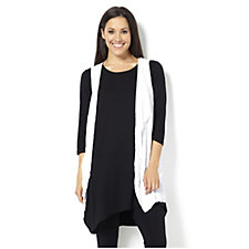 Yong Kim Crinkle Waistcoat with Waterfall Front Detail
