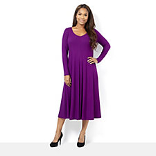 Join Clothes Rib Jersey Long Sleeve Dress