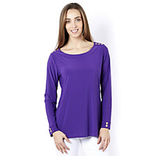 Antthony Designs Shoulder Detail Long Sleeve Tunic