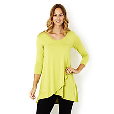 Join Clothes Jersey V Neck Tunic with Cross Over Hem Detail